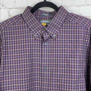 Eddie Bauer Relaxed Fit button up shirt. Maroon. L